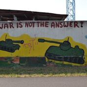 War is not the answer - Graffito in Köln