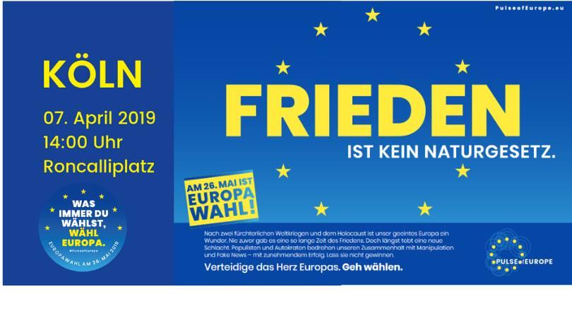Veranstaltungsbanner auf blauem Grund mit gelben Europasternchen und gelber und weißer Schrift.