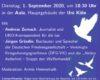 Veranstaltungshinweis für Antikriegstag 2020 in Köln mit Jürgen Grässlin und Andreas Zumach